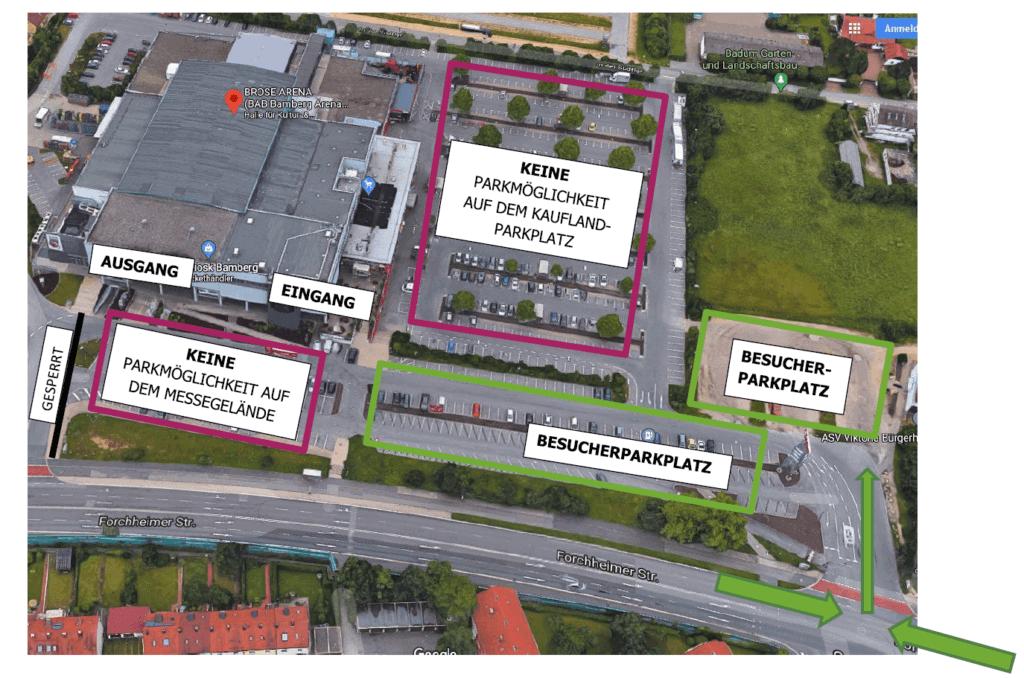 Parkplatz Skizze